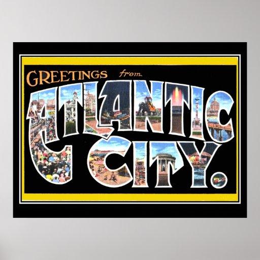 Poster del vintage de Atlantic City