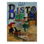 Poster del vintage de Bisto Tarjeta Postal