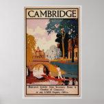 Poster del vintage de Cambridge