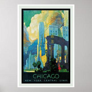 Poster del vintage de Chicago