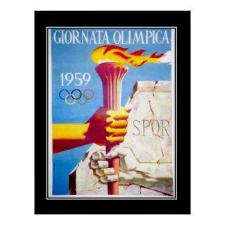 Poster del vintage de la antorcha de los DEPORTES