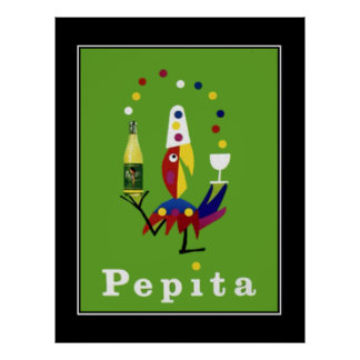 Poster del vintage de la bebida de Pepita Póster