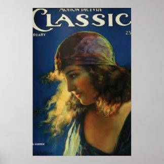 Poster del vintage de la estrella de la película m