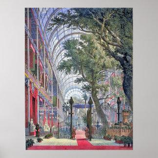 Poster del vintage de la exposición de Londres