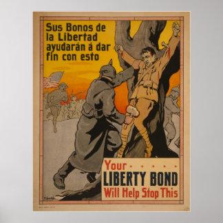 Poster del vintage de la guerra mundial 2