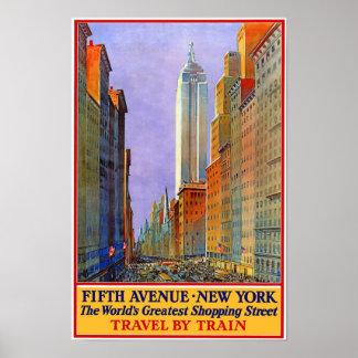 Poster del vintage de la Quinta Avenida
