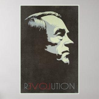 Poster del vintage de la revolución de Ron Paul