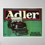 Poster del vintage de las máquinas de escribir de póster
