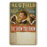 Poster del vintage de los trovadores de G. Field G Iman