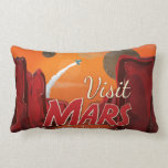 Poster del vintage de Marte de la visita Almohadas