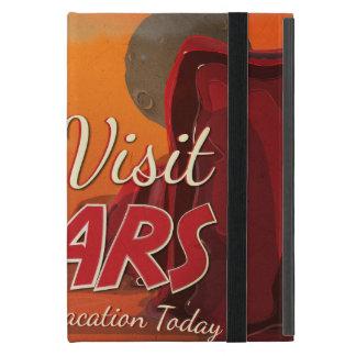 Poster del vintage de Marte de la visita iPad Mini Fundas