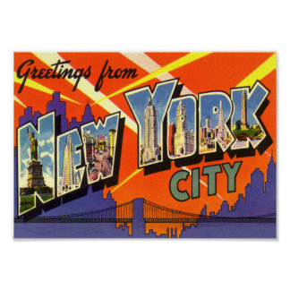Poster del vintage de New York City