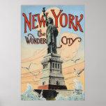 Poster del vintage de Nueva York
