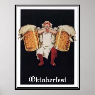 Poster del vintage de Oktoberfest