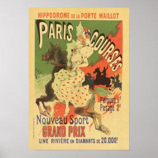Poster del vintage de París Grand Prix