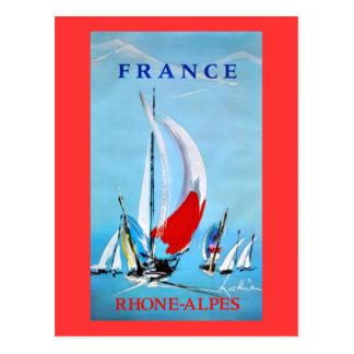 Poster del vintage de Rhone de la navegación Postales