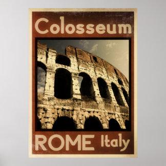 poster del vintage de Roma Italia