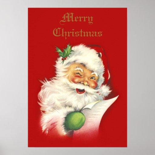 Poster del vintage de Santa