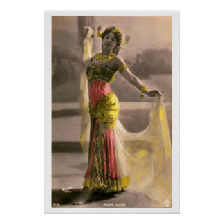 Poster del vintage de Seductress de la encantadora