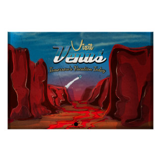 Poster del vintage de Venus de la visita