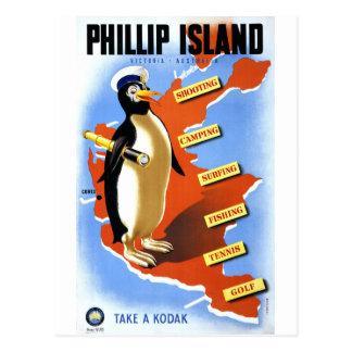 Poster del vintage de Victoria Australia de la Tarjeta Postal