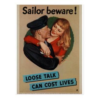 Poster del vintage de WWII Postal