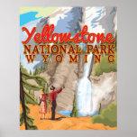 Poster del vintage de Yellowstone