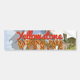 Poster del vintage de Yellowstone Pegatina Para Auto