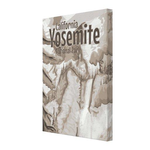 Poster del vintage de Yosemite Impresiones En Lona Estiradas