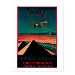 Poster del vintage del aire de El Cairo - de Tarjetas Postales