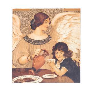 Poster del vintage del ángel del caramelo del blocs de notas