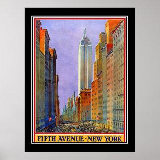 Poster del vintage del art déco de Nueva York de Póster