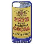 Poster del vintage del cacao iPhone 5 fundas