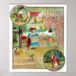 Poster del vintage del Caperucita Rojo A PARTIR