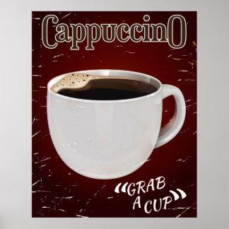 poster del vintage del cappuccino