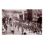 Poster del vintage del desfile de Virginia City