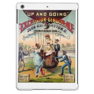 Poster del vintage del ginger ale de las virutas funda para iPad air