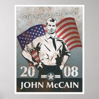 Poster del vintage del héroe de McCain