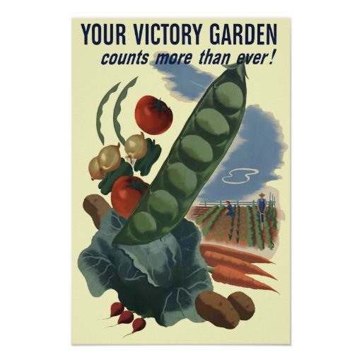 Poster del vintage del jardín de victoria