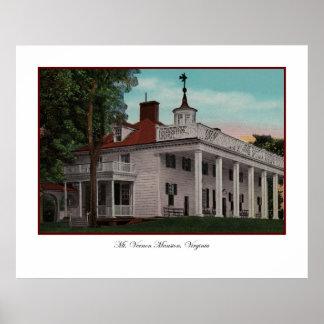 Poster del vintage del Monte Vernon