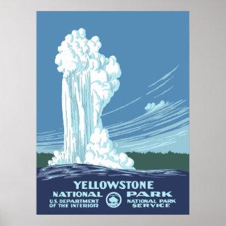 Poster del vintage del parque nacional de póster