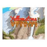 Poster del vintage del parque nacional de Yellowst Postales