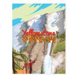 Poster del vintage del parque nacional de Yellowst Postal
