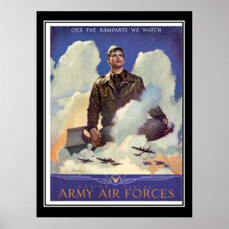 Poster del vintage del reclutamiento de la fuerza