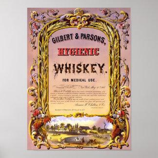 Poster del vintage del whisky