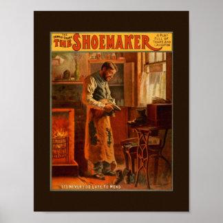 Poster del vintage el juego de la comedia del dram