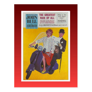 Poster del vintage, Juan Bull ilustrada, Postales