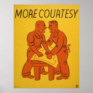Poster del vintage - más cortesía - POSTER