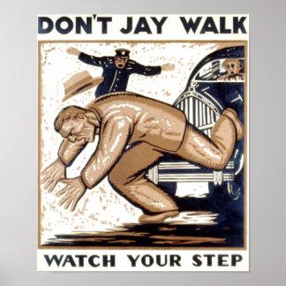 Poster del vintage - no hace el paseo de Jay - mir