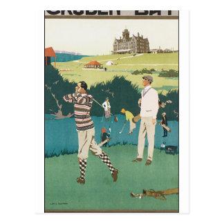 Poster del vintage para la bahía de Cruden Tarjeta Postal